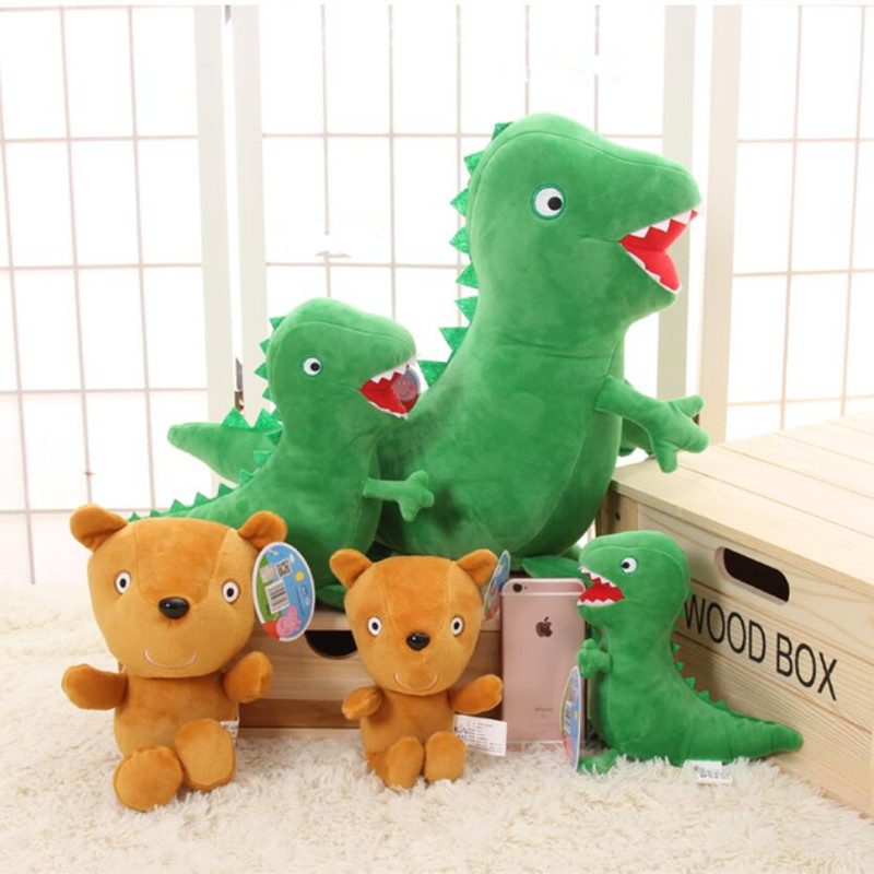 Peppa Pig Dinosaurs And Bears Stuffed Animals Plush Toys For Kids Girls Baby Birthday Party Animal Plush Toys Gifts