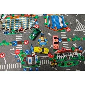 Alfombra infantil city calles con coches y señales