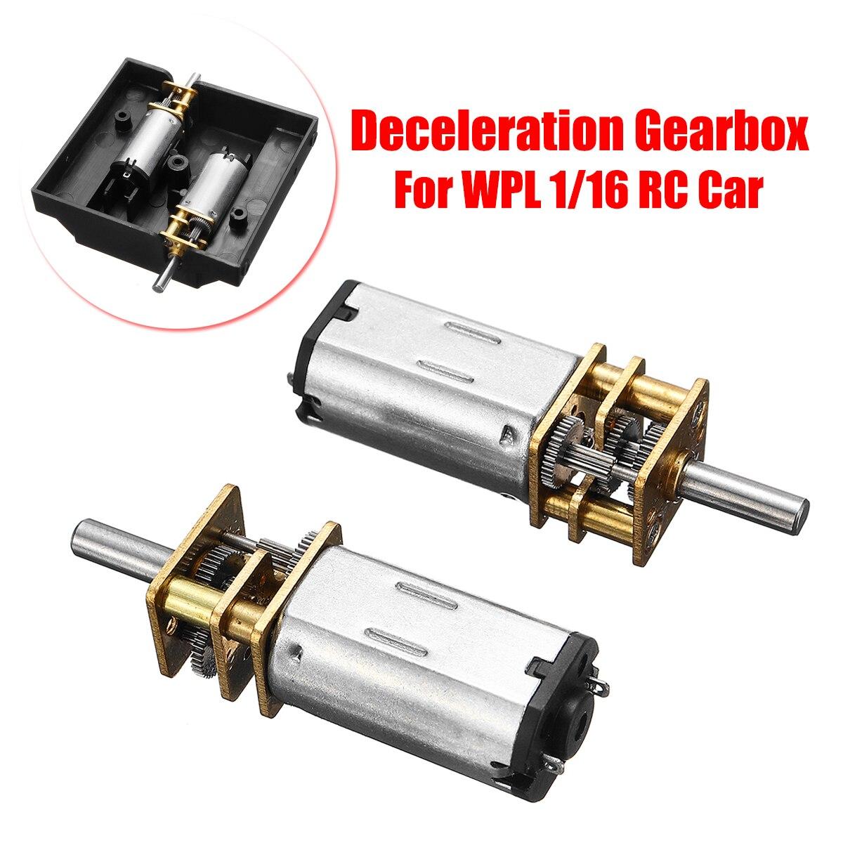 Für WPL 1/16 C14 C24 RC Auto Ersatz Ersatzteile Verzögerung Getriebe Set Langlebig Erhöhen Klettern Fähigkeit Reibungslos Metall