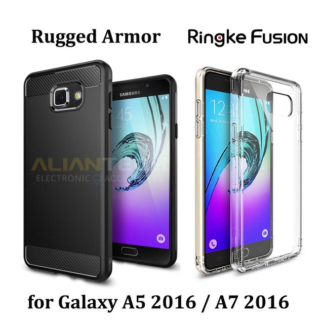 100% original pec resistente armadura/fusão ringke caso para samsung galaxy A9/A7 2016/A5 2016 | Grau Militar Resistência Queda