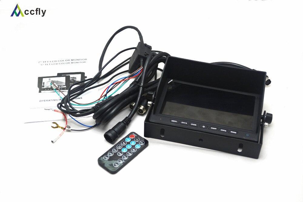 Arxa görüntü kamerası üçün 7 düymlük Rəngli TFT LCD - Avtomobil elektronikası - Fotoqrafiya 6