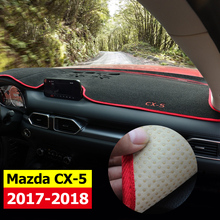 Car dashboard Avoid light pad Instrument platform desk cover Mats Carpets LHD For MAZDA CX 5