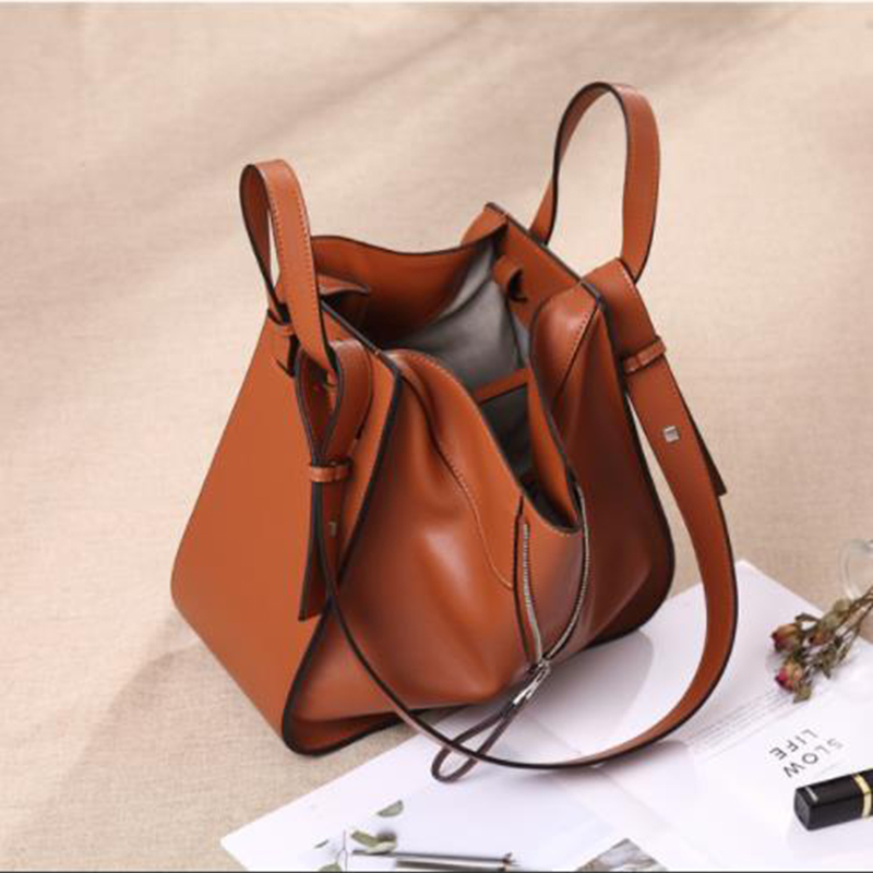 Bag Female Women\'S Genuine Leather Bags Handbags Crossbody Bags For Women Shoulder Bags Genuine Leather Bolsa Feminina Tote