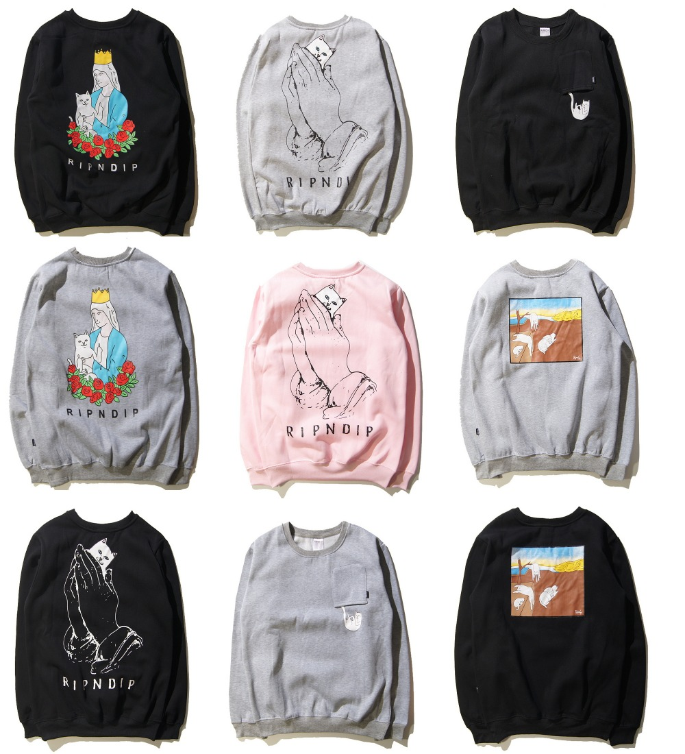 New York font b Fashion b font Brand Ripndip Hoodie Sweatshirts Men font b Women b