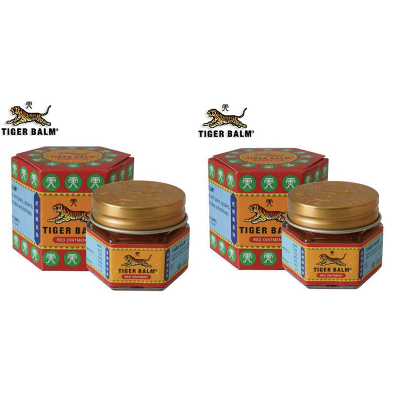 2pcs Red Tiger Balm Ointment Thailand Painkiller Ointment Muscle Pain Relief Ointment Soothe itch durvet nu stock ointment 12 ounce