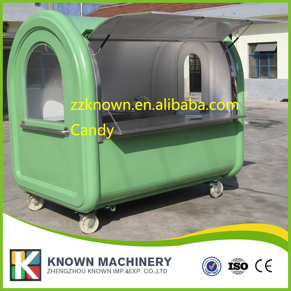 Street food cart Ice cream Venidng Cart mobile food kiosk for sale not including draw off equipment ...