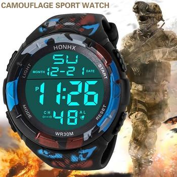 Mens Clock Sport Digital LED Waterproof Wrist Watch Men Analog Military Army Stylish Electronic watch