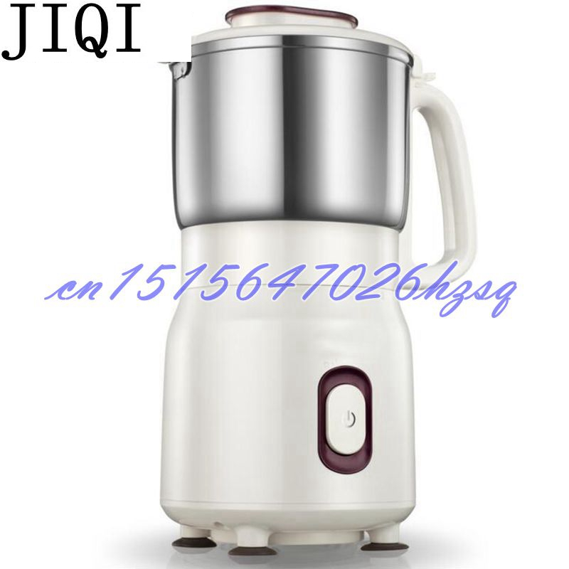 JIQI Household Electric grinder 500W desktop Multifuntional Stainless steel blade 450g for Chinese medicine/beans powder maker