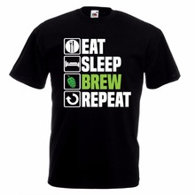 """Eat, Sleep, Brew, Repeat"" men's shirt"