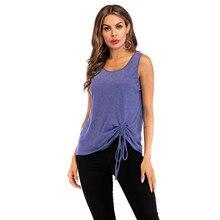 Women Summer Tshirt  Casual Sleeveless Solid O-Neck T Shirt Plus Size Tops Streetwear Shirts