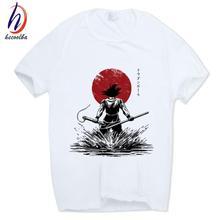 Dragon Ball Z Goku Japanese T-shirt Short sleeve Free shipping Summer Sleeves Cotton