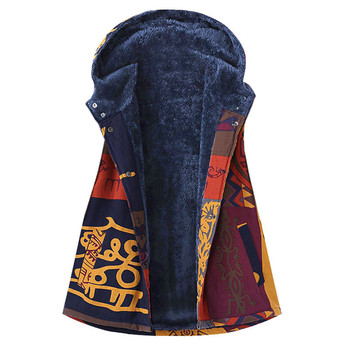 Women Winter Warm Plus Size Sleeveless Printed Pockets 2018 Hot Cotton Thicker Hasp Hooded Vest Coat Chalecos Para Mujer