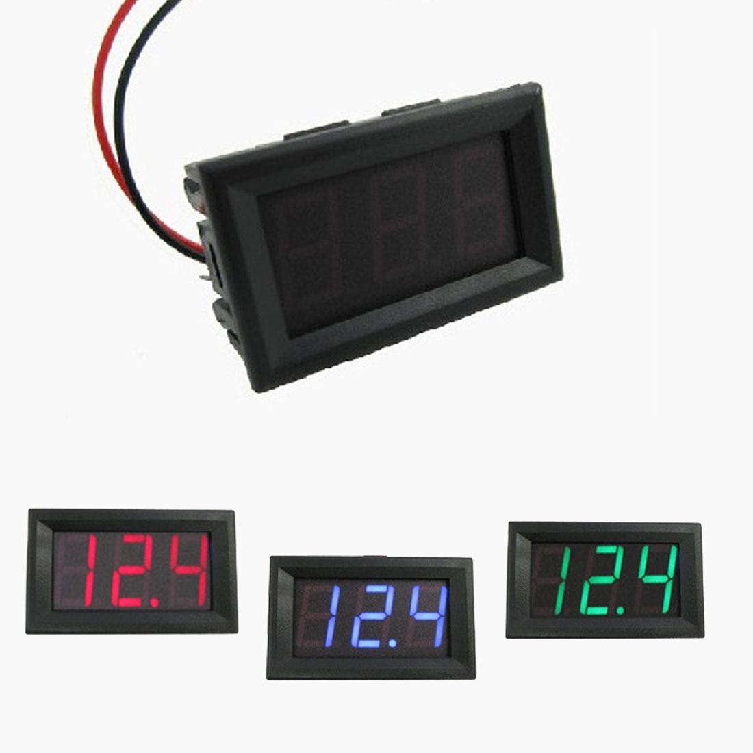 0.56 inch LED DC 4.50V-30.0V Digital Voltmeter Home Use Voltage Display 2 Wires Red And Black yb27a led ac 60 300v digital voltmeter home use voltage display w 2 wires