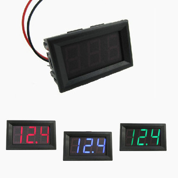 0.56 inch LED DC 4.50V-30.0V Digital Voltmeter Home Use Voltage Display 2 Wires Red And Black Voltage Meters