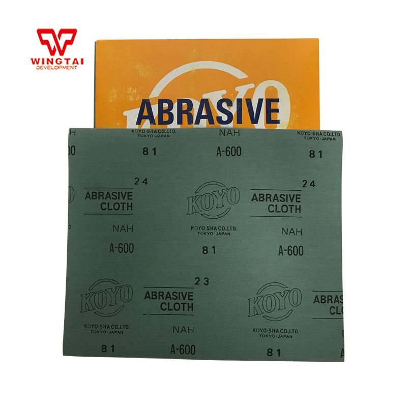 50 Pcs / Lot Japan Guangyang KOYO Polishing Cloth 600 Grit Abrasive Cloth For Furniture Industry