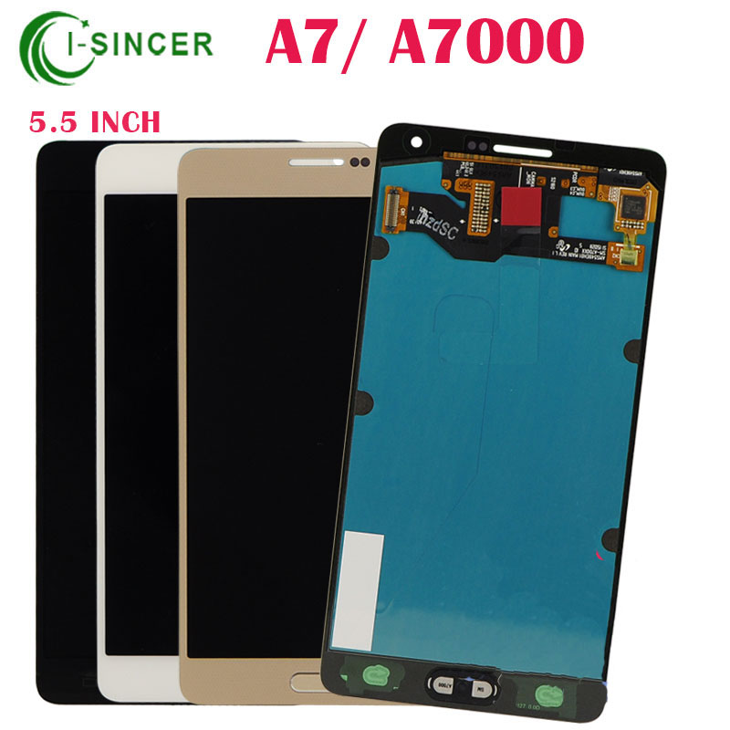 5PCS/LOT For Samsung Galaxy A7 A7000 A700,A700FD,A700S,A700K,A70 LCD Screen touch display &home flex blue white gold Free DHL