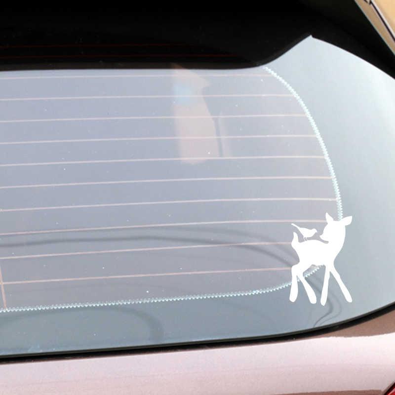 YJZT 10.9 CM * 16.6 CM Deer wzór winylowa tablica naścienna dekoracji ciała samochodu samochód naklejki czarny/srebrny C4-1934