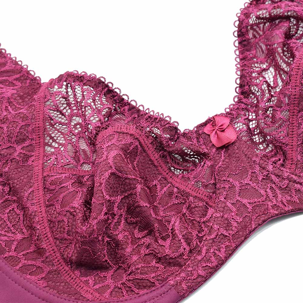 Bras For Women Adjusted-straps Underwire Bra Sexy Women Underwear Lace Bralette Lingerie Top Large Size B C D DD E F Cup 31