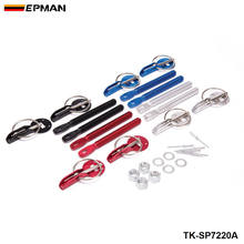 Epman Olahraga Paduan Hitam Bonnet Hood Pin Lock Kit Down Hood Kunci Pin untuk Ford F250 6.0L Twin Beam 03 -07 TK-SP7220A(China)
