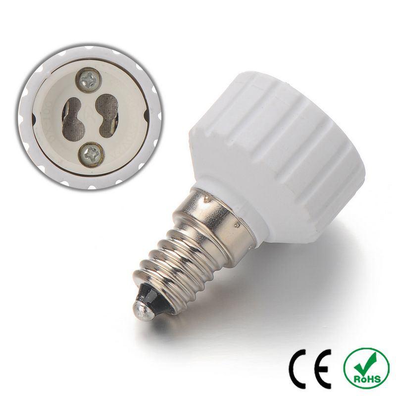 100pcs E14 to GU10 Lamp Socket Bulb Holder Adapter Base Fireproof Material Halogen LED Light Adapter Converter