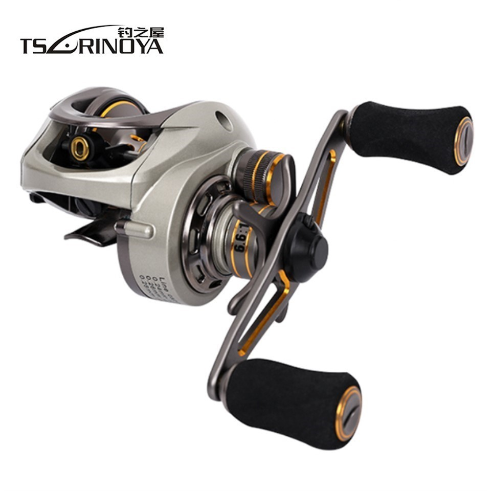 TSURINOYA Ultar Light Sealed Bearing 6.6:1 Baitcasting Reel Left Right Hand Baitcaster Saltwater Bait Casting Reel Fishing Reels new 12bb left right handle drum saltwater fishing reel baitcasting saltwater sea fishing reels bait casting cast drum wheel