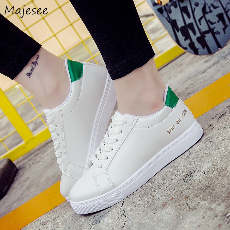 Vulcanize Shoes Women Korean Style Trendy White All-match Womens Students Flat with Soft Bottom Breathable Leisure Chic Female