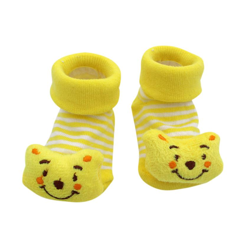 shaunyging # 3001 Cartoon Newborn Baby Girls Boys Anti-Slip Socks Slipper Shoes Boots