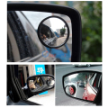 1Pair Black Auto Motorcycle Blind Spot Rear View Mirror 360 Degree Adjustable Car Spot Mirror Accessories For Parking Free Ship