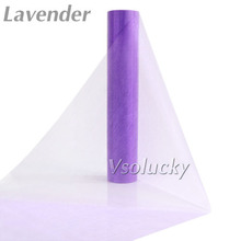 25M x 29CM Lavender Sheer Organza Roll Fabric DIY Wedding Party Chair Sash Bows Table Runner Swag Decor(China)