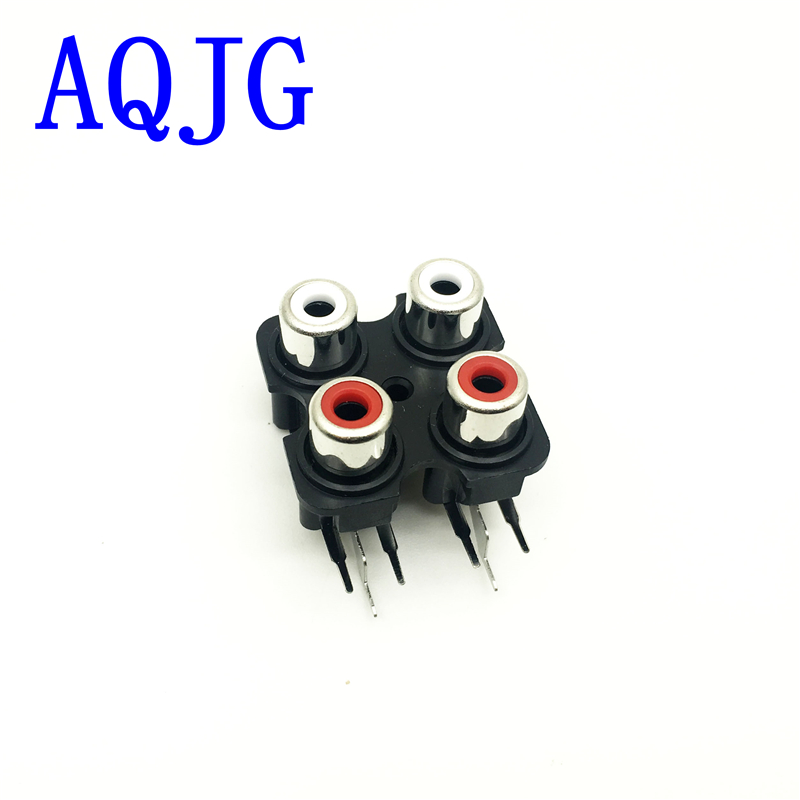 1Pcs PCB Mount 2 4 6 Position Stereo Audio Video Jack RCA Female RCA Female Stereo audio Jack AV Audio input socket Connector стоимость