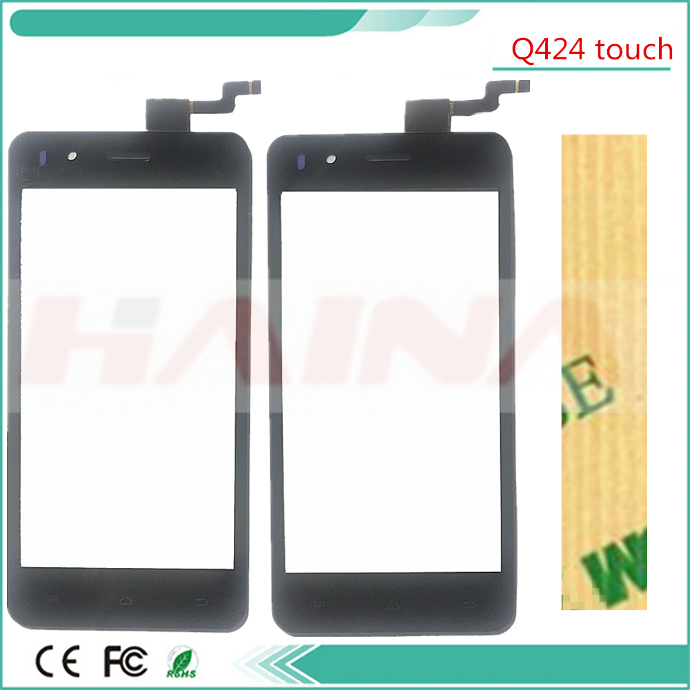black color Touchscreen For Micromax Bolt Selfie Q424 Touch Screen Panel Sensor Glass Lens Accessor Touchpad +Tracking
