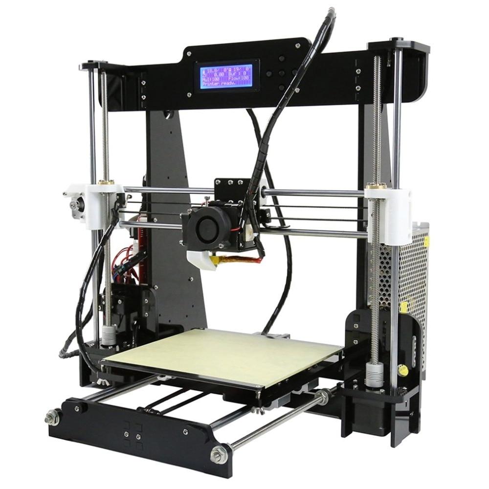Удобный DIY 3D принтер, печатная машина акриловая рамка механические комплект для печати 3 материалы ЖК-нити алюминиевая структура