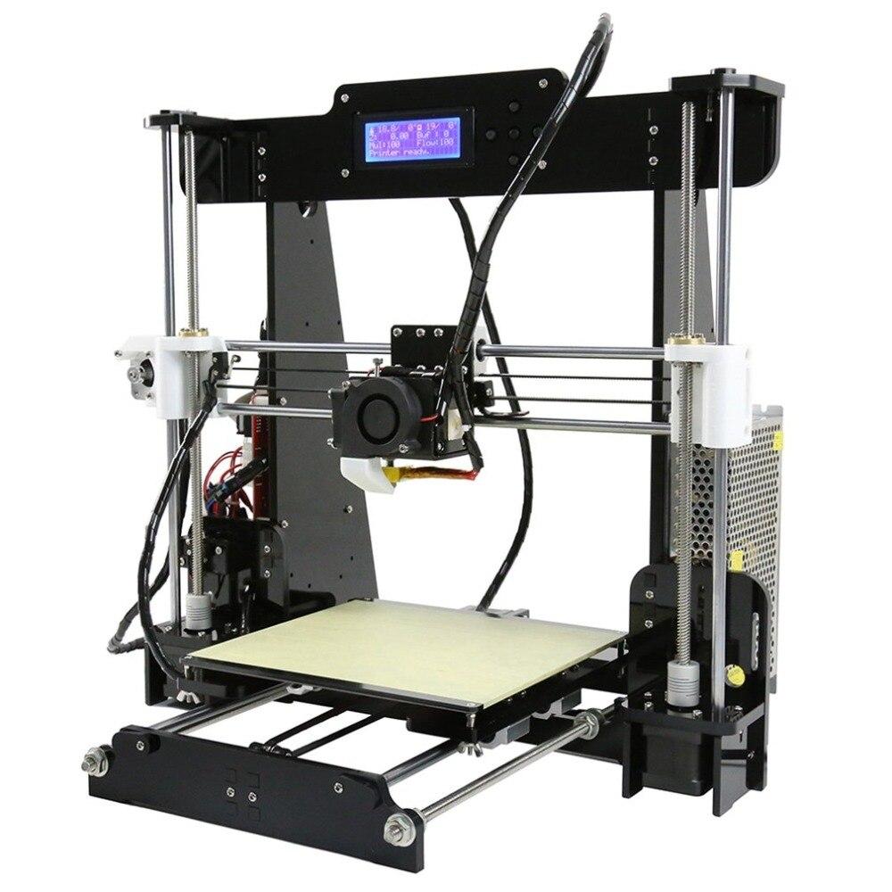 Pratique DIY 3D Imprimante Machine D'impression Acrylique Cadre Mécanique Kit D'impression 3 Matériaux LCD Filament Structure En Aluminium