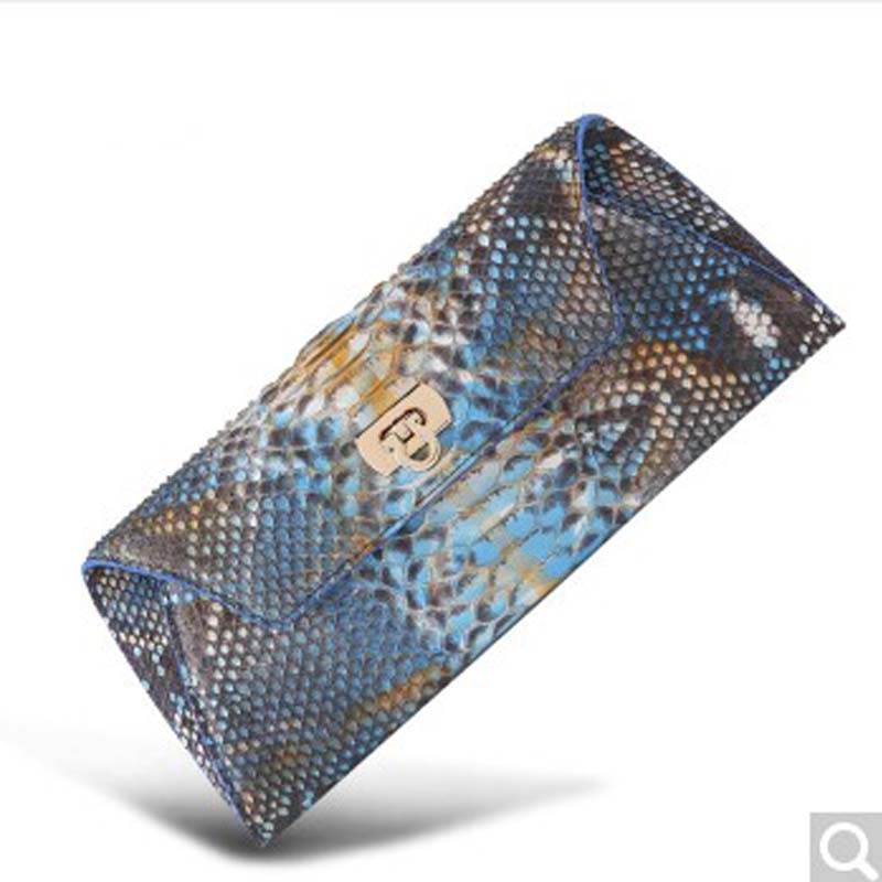 Beijue python leather women handbag woman purse fashion handbag handbag hand purse money dinner bag Blue yuanyu 2018 new hot free shipping real python skin snake skin color women handbag elegant color serpentine fashion leather bag