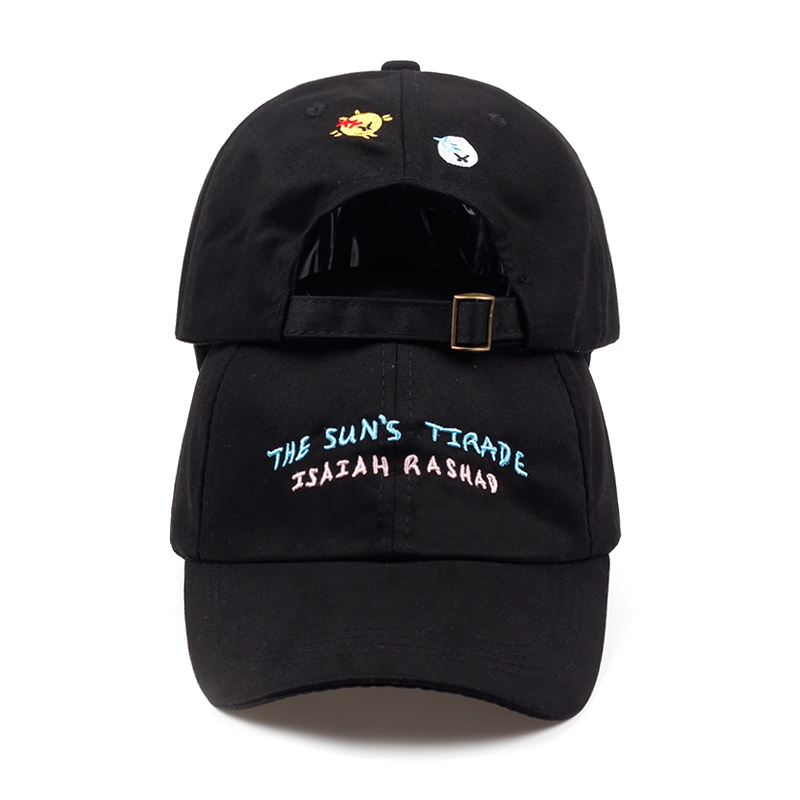 2018 the sun tirade isaiah rashad embroidery DAD Hat fashion style vintage art baseball cap meme man women Hip hop cap hats feitong summer baseball cap for men women embroidered mesh hats gorras hombre hats casual hip hop caps dad casquette trucker hat