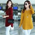 Большой размер женщин 2017 весна Корейской версии свитер жира сестра в долгосрочной разделе одежда свитер пальто просто мода новый