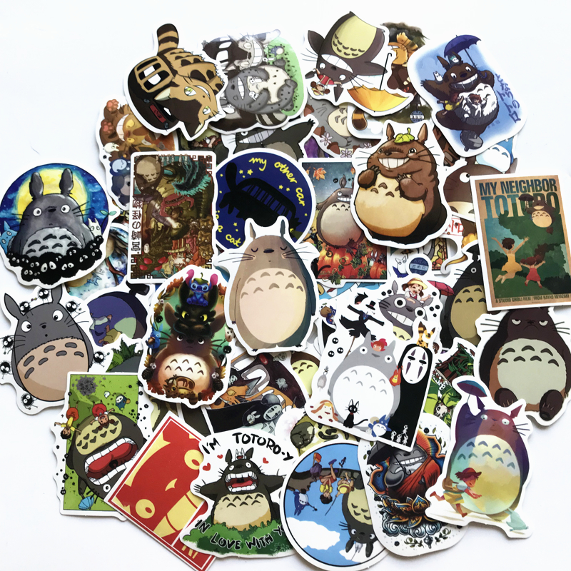 TD ZW 50Pcs/lot Japanese Movie My Neighbor Totoro Stickers For Snowboard Laptop Luggage Car Fridge Car- Styling Sticker Pegatina