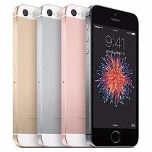 Б/у разблокированный Apple iPhone SE, определение отпечатка пальца двухъядерный 4 аппарат не привязан к оператору сотовой связи смартфон герметичный 2 Гб Оперативная память 16/64GB Встроенная память за счет сканера отпечатков пальцев мобильного телефона