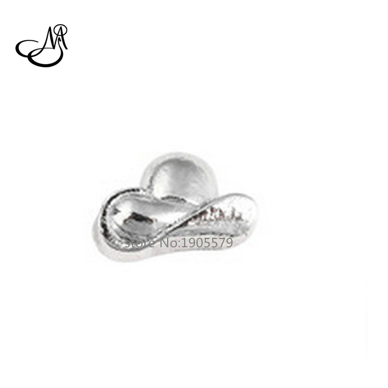 Free shipping! Silver Cool Hat floating charms for floating lockets;living memory lockets charm MFC0972