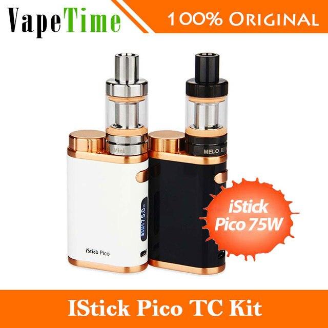 Nueva 75 w eleaf istick kit de pico con melo 3 mini tanque de 2 ml en Las Nuevas Ediciones de VW/TC Modo Pico istick Mod 75 W e cigarrillo electrónico