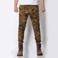 MORUANCLE Mens Camouflage Cargo Pants Military Style Camo Tactical Trousers For Man Work Pants With Multi Pockets Size 28 38