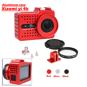 Image 1 - New for Xiaomi Yi 2 4k 4k+ Accessory Aluminium Alloy Metal Housing Frame Protective Case +UV filter for Xiao Yi 4k action camera