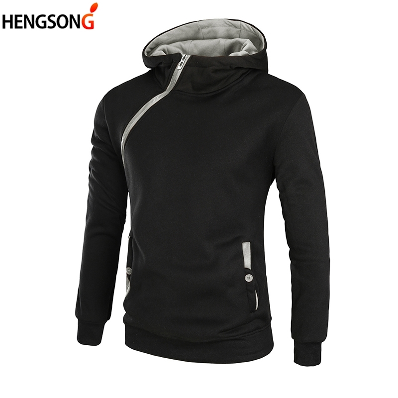 Plus Size Men's Hoodies Tracksuit New Zipper Slim Sweatshirt Male Hooded Pullovers Chic Design Casual Long Sleeve Male Jacket