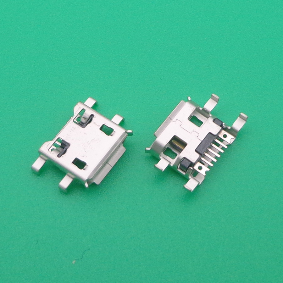 500X for micro mini 7 P Pin USB jack socket connector charging port socket plug,sink board-in Connectors from Lights & Lighting    1