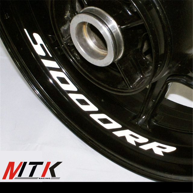 Mtkracing s1000rr seven colors 8x custom inner rim decals wheel reflective stickers stripes fit bmw s1000rr