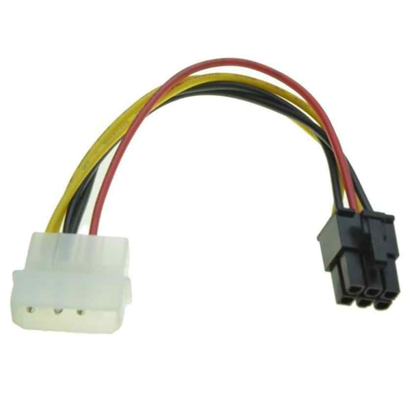 Good Sale 4 Pin Molex to 6 Pin PCI-Express PCIE Video Card Power Converter Adapter Cable Nov.6