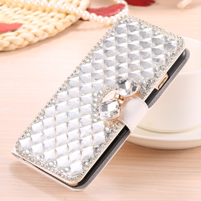 Rhinestone Bling Crystal Flip Leather Diamond Case Cover for Huawei Honor 5A Y6 II