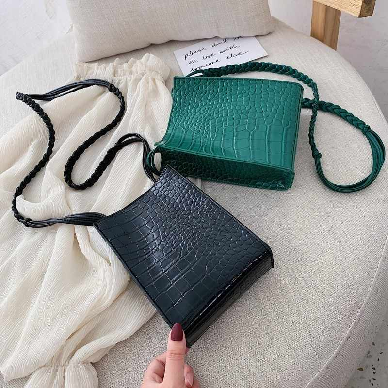 Crocodile Pattern Crossbody Bag For Women 2019 Luxury Handbags Women Bags Designer PU Leather Chain Small Shoulder Messenger Bag
