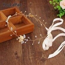 YouLaPan SH114-G Women Evening Belt Wedding Belt Wedding Sash Bridal Belts Crystals Bridal Sash Wedding Accessories Thin Belts