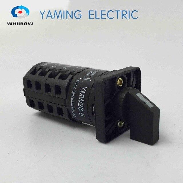 Yaming Elektrische steuerung schalter 4 knoten 5A 3 position Universal umstellung rotary cam schalter interruptor YMW26-5/4
